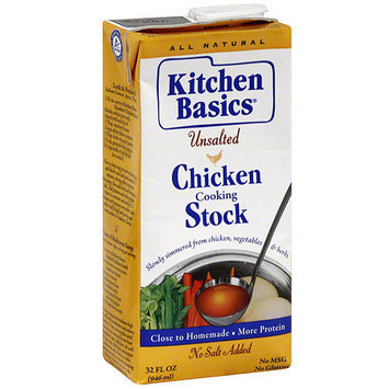 Kitchen Basics Chicken Unsalted Stock, 32 oz (Pack of 12)