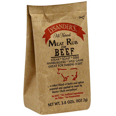 Lysander's Beef Rub, 3.8 oz (Pack of 6)