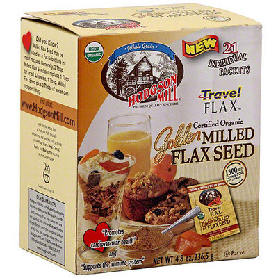 Hodgson Mill Travel Golden Milled Flax Seed, 21ct (Pack of 6)