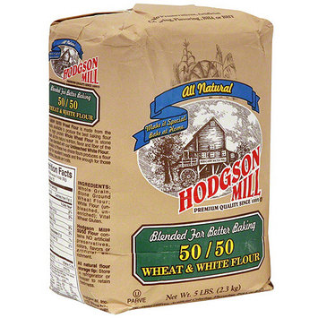 Hodgson Mill 50/50 Whole Wheat & White Flour, 5 lb (Pack of 6)