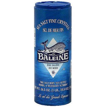 La Baleine Fine Crystals Sea Salt, 26.5 oz (Pack of 12)