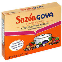Goya Sazon Flavor Packet With Coriander & Annatto, 1.41 oz (Pack of 36)