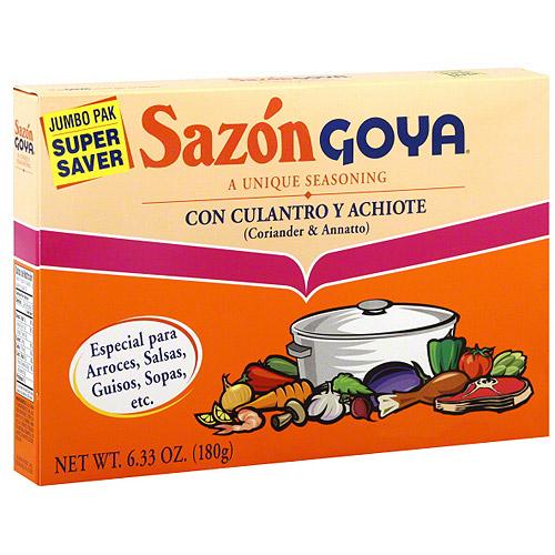Goya Sazon Flavor Packet With Coriander & Annatto, 6.33 oz (Pack of 15)