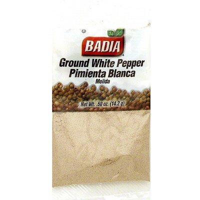 Badia Ground White Pepper, 0.5 oz (Pack of 12)
