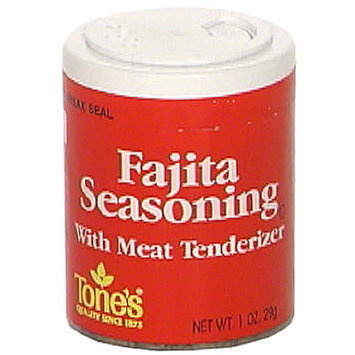 Tone's Fajita With Meat Tenderizing Seasoning, 1.0 oz (Pack of 6)