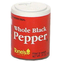 Tone's Tones Whole Black Peppercorns, .70 oz (Pack of 6)
