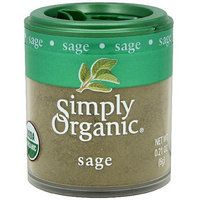 Simply Organic Sage, .21 oz (Pack of 6)