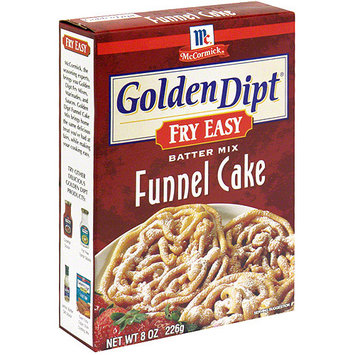 Golden Dipt Fry Easy Funnel Cake Batter Mix, 8 oz (Pack of 6)
