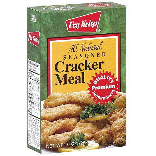 Fry Krisp All Natural Seasoned Cracker Meal, 10 oz (Pack of 12)