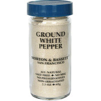 Morton & Bassett Spices Ground White Pepper, 2.3 oz (Pack of 3)
