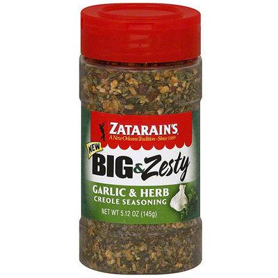 Zatarain's Big & Zesty Garlic & Herb Creole Seasoning, 5.25 oz (Pack of 6)