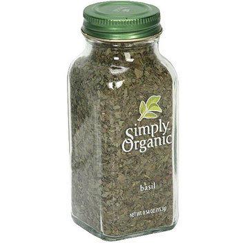 Simply Organic Basil, 0.54 oz (Pack of 6)