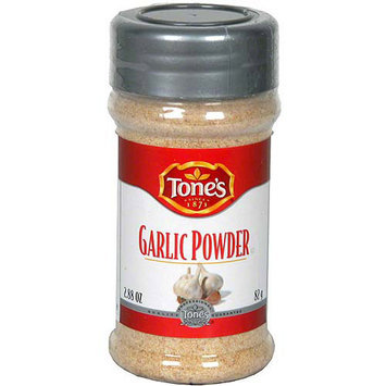 Tone's Garlic Powder, 2,88 oz (Pack of 6)