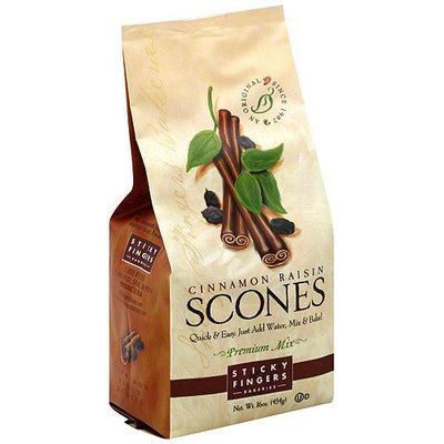 Sticky Fingers Bakeries Cinnamon Raisin Scones Mix, 16 oz (Pack of 6)