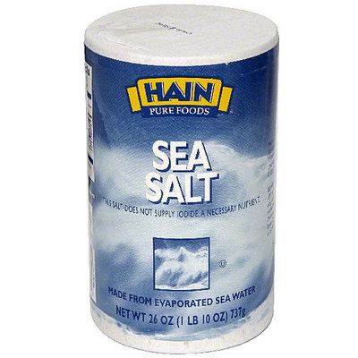 Hain Sea Salt, 26 oz (Pack of 12)