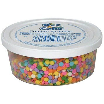 Dec-a-cake Decacake Confetti Sprinkles, 3.18 oz (Pack of 12)