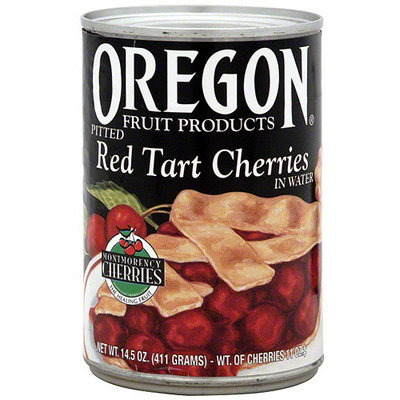 Oregon Fruit Products Pitted Red Tart Cherries In Water, 14.5 oz (Pack of 8)