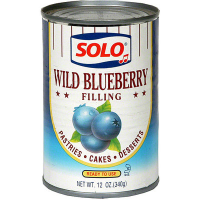 Solo Blueberry Filling, 12 oz (Pack of 12)