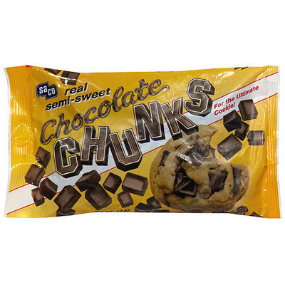 Saco Semi Sweet Chocolate Chunks, 12 oz (Pack of 12)