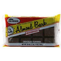 Log House Chocolate Almond bark, 20 oz (Pack of 12)