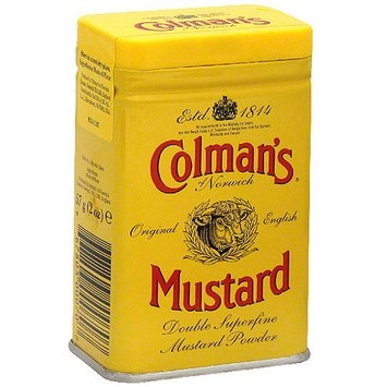 Colmans Colman's Of Norwich Hot Dry Mustard, 2 oz (Pack of 12)
