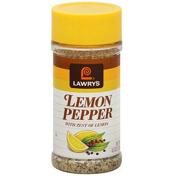 Lawry's Lemon Pepper, 4.5 oz (Pack of 12)