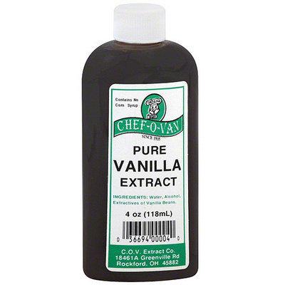 Chef O Van Chef-O-Van Pure Vanilla Extract, 4 oz (Pack of 12)