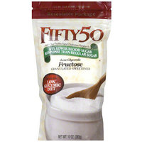Fifty 50 Granulated Fructose Sweetener, 10 oz (Pack of 6)