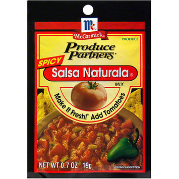 Produce Partners Spicy Salsa Naturala, 0.7 oz (Pack of 12)