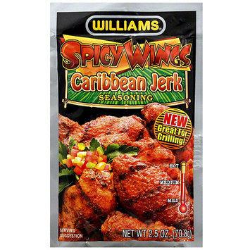 Williams Spicy Wings Caribbean Jerk Seasoning, 2.5 oz (Pack of 12)