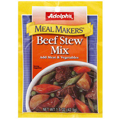 Adolph's Meal Makers Beef Stew Mix, 1.5 oz (Pack of 24)
