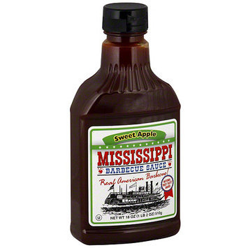 Mississippi Bbq Mississippi Barbecue Sauce Sweet Apple BBQ Sauce, 18 oz (Pack of 6)