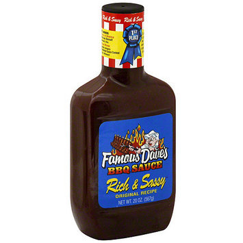 Famous Daves Famous Dave's Rich & Sassy BBQ Sauce, 20 oz (Pack of 12)