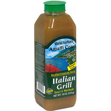 World Harbors Amalfi Coast Italian Grill Marinade & Sauce, 16 oz (Pack of 6)