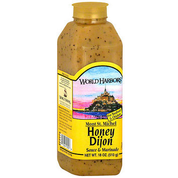World Harbors Mont St. Michel Honey Dijon Marinade, 16 oz (Pack of 6)