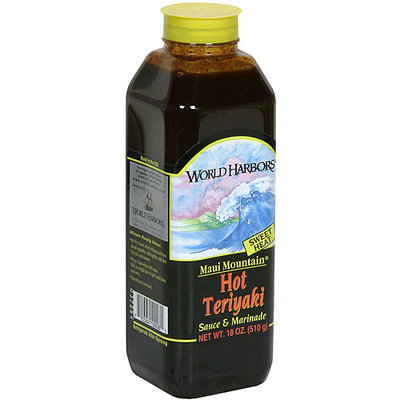 World Harbors Hot Teriyaki Marinade, 16 oz (Pack of 6)