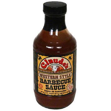 Claude's Western Style Barbecue Sauce, 16 oz (Pack of 6)
