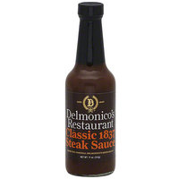 Delmonico's Restaurant Classic 1837 Steak Sauce, 11 oz (Pack of 6)