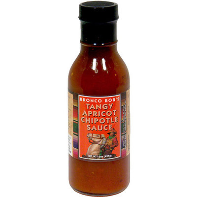 Bronco Bob's Tangy Apricot Chipotle Sauce, 15 oz (Pack of 6)