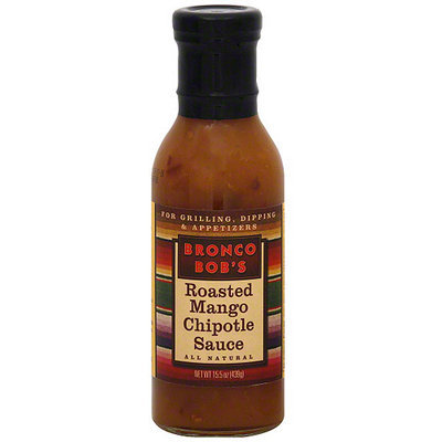 Bronco Bob's Roasted Mango Chipotle Sauce, 15.5 oz (Pack of 6)