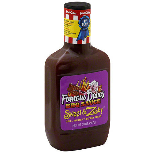 Famous Daves Famous Dave's Sweet & Zesty BBQ Sauce, 20 oz (Pack of 12)
