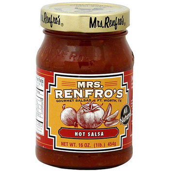 Mrs. Renfro's Hot Salsa, 16 oz (Pack of 6)