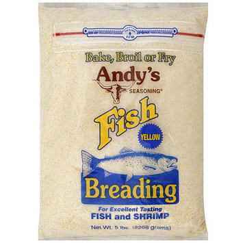 Andy's Seasoning Yellow Fish Breading, 5 lb (Pack of 6)
