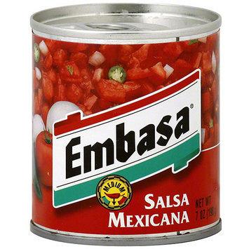 Embasa Medium Mexicana Salsa, 7 oz (Pack of 12)