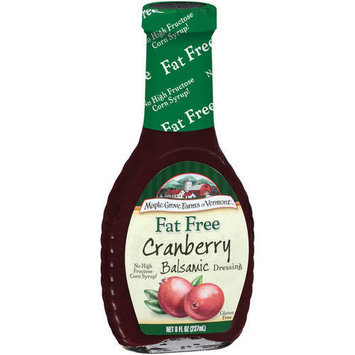 Maple Grove Farms Of Vermont Cranberry Balsamic Dressing, 8 oz (Pack of 6)
