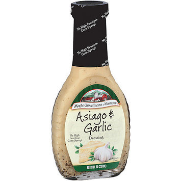 Maple Grove Farms Of Vermont Asiago & Garlic Dressing, 8 oz (Pack of 6)