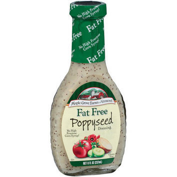 Maple Grove Farms Fat Free Poppyseed Dressing, 8 oz (Pack of 6)