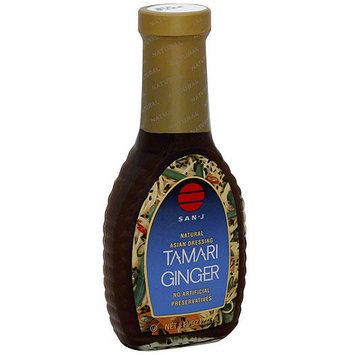 San-J Tamari Ginger Asian Dressing, 8 oz (Pack of 6)