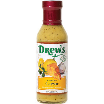 Drew's Romano Caesar Dressing & Quick Marinade, 12 oz (Pack of 6)
