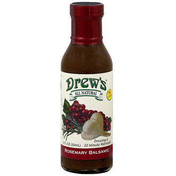 Drew's Rosemary Balsamic Dressing & Quick Marinade, 12 oz (Pack of 6)
